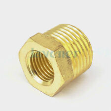 "1/2"" NPT Male x 1/4"" NPT Female Reducing Bushing Brass Pipe Fitting Adapters"