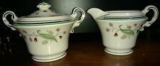Syracuse China Old Ivory Coralbel Creamer and Sugar with lid