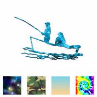 Fisherman Boat Fish - Vinyl Decal Sticker - Multiple Patterns & Sizes - ebn3246