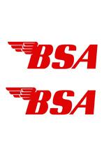 "(2) DECALS PCS ""BSA"" size 2"" 1/2 x 7"" 1/4  Vinyl Decal Sticker MOTORCYCLE!"
