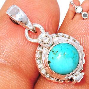 Poison - Kingman - Blue Mohave Turquoise 925 Silver Pendant Jewelry BP81405