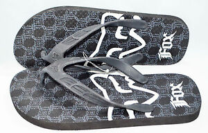 Fox Racing Men Flip Flop Rubber Black size 9