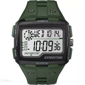 Timex Men's Expedition Grid Shock Chronograph 50mm Watch - Green