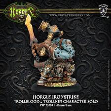 Hordes Warmachine BNIB - Trollblood Solo Horgle Ironstrike