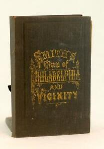 c1890s J L Smith's Map of Philadelphia and Vicinity 2 Maps 23 x 27 Inches