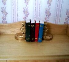 1:12 - 4 Miniatur Bücher zum blättern und Beschriften