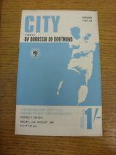 11/08/1967 Manchester City V Borussia Dortmund [freundliche]. Störungen mit diesem ITE
