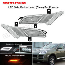 Amber/White Clear LED Side Marker Lamps For 2007 2008 2009 2010 Porsche Cayenne