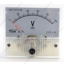 1 × DC 100V Analog Panel Volt Voltage Meter Voltmeter Gauge 85C1 White 0-100V DC
