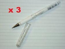 3x uni-ball Signo broad gel ink pen UM153 WHITE 1.0mm tip acid free UM-153