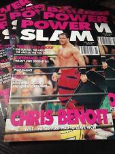Potencia de WWE Slam Magazine # 69 Chris Benoit revista Wrestling WWF + Póster