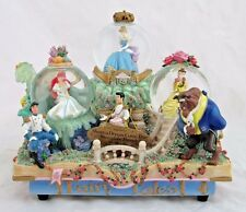 Disney Fairy Tales Princesses Triple Musical Light Up Snow Globe