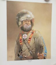 1984 The Bourgeois By Sid Mountain Native Mountain Man Poster