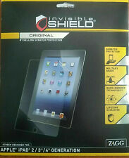 ZAGG Invisible Shield Scratch Protection Apple iPad 2nd 3rd 4th Gen NEW & Sealed