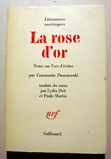 RUSSIE/PAOUSTOVSKI/LA ROSE D OR/NOTES SUR L ART D ECRIRE/NRF/1968
