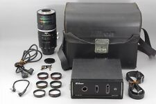 Near MINT Nikon Medical Nikkor Auto 200mm F5.6 Lens AC Unit Case Filters Japan