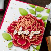Metal Cutting Dies Rose Scrapbooking Album Paper Card Flowers Stencil Decoration