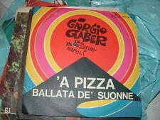 """GIORGIO GABER """" 'A PIZZA """"  XIV FESTIVAL DI NAPOLI ITALY'66"""