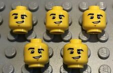 5 X NEW LEGO Yellow Head Male Eyebrows  Dimple Lopsided Grin Minifigures Lot 32
