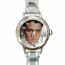 NEW*HOT ELVIS PRESLEY Round Italian Charm Wrist Watch Gift D05