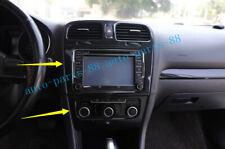 For VW Golf 6 VI MK6 2010-2012 Carbon Fiber Interior GPS Navigation Panel Cover