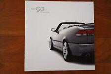 Prospekt SAAB 93 9-3 Cabriolet 2002 - TOP-ZUSTAND - SELTEN