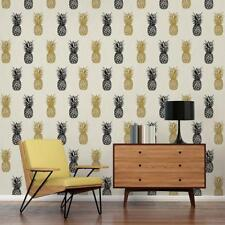 Tropicana Club Black White and Gold Pineapple Wallpaper 35997-1 by AS Creation