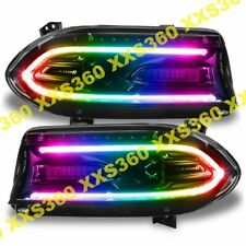 ORACLE Dodge Charger 2015-2019 Headlight DRL Upgrade Kit COLORSHIFT RBG+W