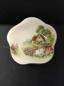 Royal Winton Red Roof Footed Dish  #11