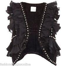 SASS & BIDE 'Turn The Lights On' Studded Vest - Size 10 - $490