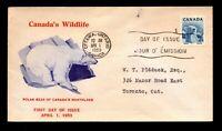 Canada 1953 Wildlife Polar Bear FDC / Nice Cachet - L12402