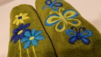 Vintage 1960's Royal Terry Barth and Dreyfuss Embroidered Guest Hand Towels
