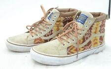 VANS X PENDLETON SK8-HI MTE Tribal Print Wool Leather Sneakers Shoes Mens Sz 9