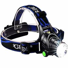 Zoom able 3 Modes Super Bright LED Headlamp with Rechargeable Batteries