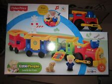 Fisher Price Little People Load and Go Train Set NEW dog eddie eddy Engine ball