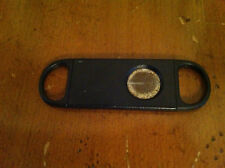 vintage cigar cutter Black plastic with retractable blade Tobacciana Collectible