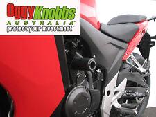 OK524 HONDA CBR500R 2013-15 OGGY KNOBBS NO CUT KIT (BLACK KNOBS) Frame Sliders