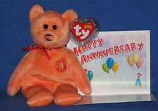 TY MC MASTERCARD ANNIVERSARY #3 BEAR with CARD - MINT with MINT TAGS
