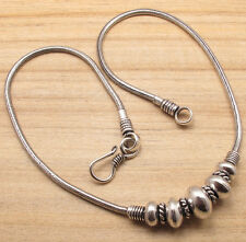 JEWELRY NECKLACE BEADED 2.5 MM SNAKE CHAIN Silver Plated  Ladies Fashion Hot ps
