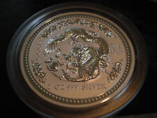 2 oz Silver Dragon Australian Lunar Series I Year 2000