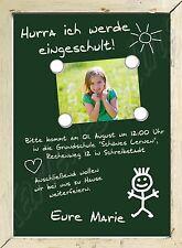 Einladung Einschulung Schulanfang Danksagung Fotokarte Foto Karte individuell