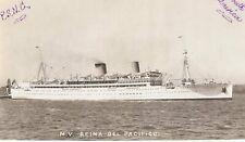 M V Reina Del Pacifico - Unused B & W Postcard