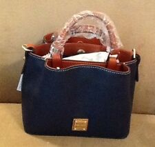 "NWT DOONEY & BOURKE ""MINI BARLOW"" PEBBLE LEATHER CROSSBODY BAG IN MIDNIGHT BLUE"