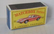 Repro Box Matchbox 1:75 Nr.32 Jaguar E-Type
