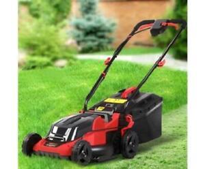 340mm Grass Cutting Push Start Button Cordless Battery Lawn Mower 40V 30L Bag