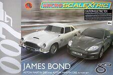 2015 Micro Scalextric James Bond 007 Aston Martin G1122T HO Slot Car RACE SET