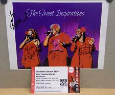 1x Photo Signed / Ticket The Sweet Inspirations Elvis Concert 2019 - Veldhoven