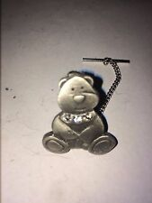 Chain Made From English Pewter Teddy Dr37 Tie Pin With