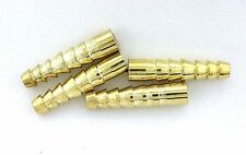Two 1 1/10 Inch Heavy Cast Graduated Gold Color Bolo Bola Tips Cf828