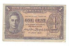 Malaya - 1941, One Cent